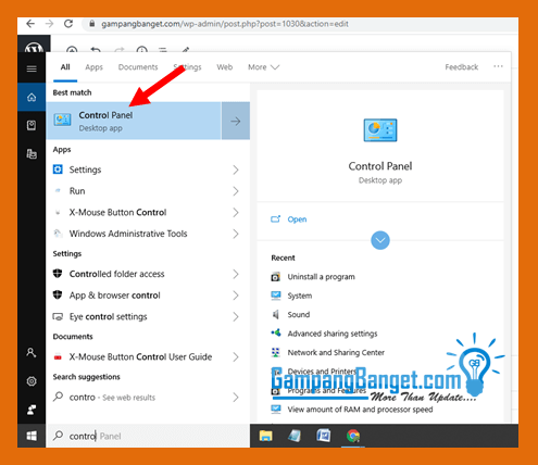 Cara membuat password windows 10