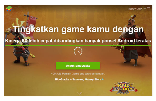 Download dan install aplikasi bluestack